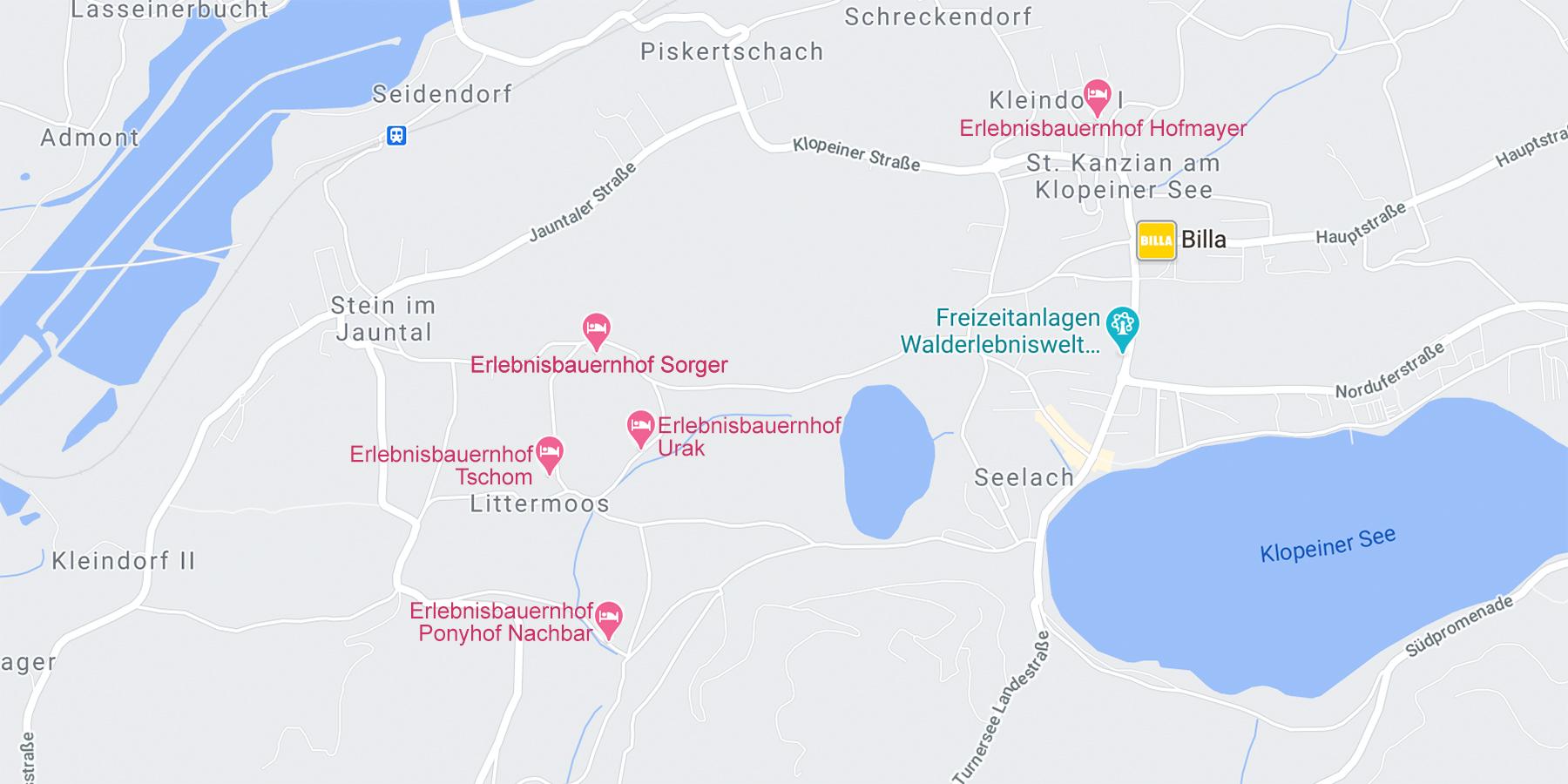 Karte Erlebnisbauernhoefe